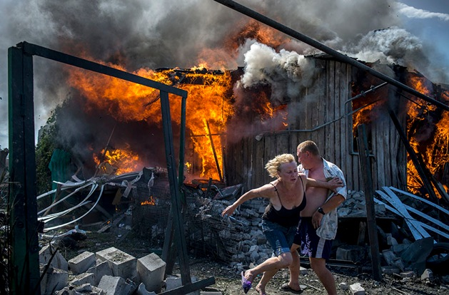 Eastern Ukraine burns
